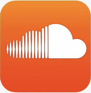 Soundcloud logo square, orange background