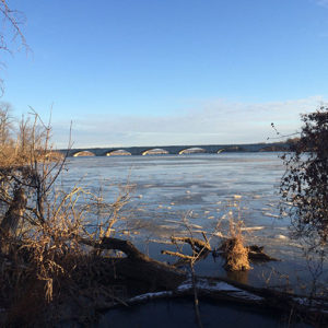 Potomac River in winter from Theodore Roosevelt Island