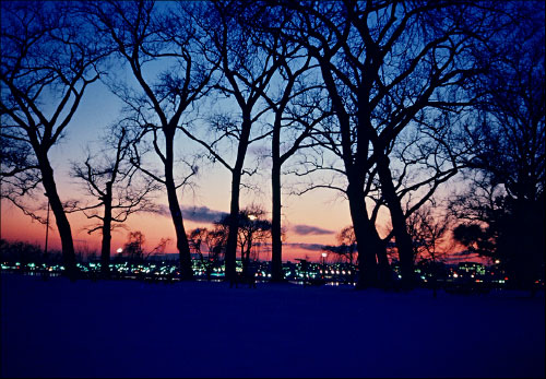 Winter sunset at Hains Point