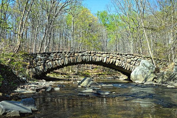 Stone bridge at Rock Creek Park
