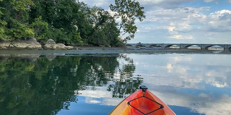 Kayaking near Theodore Roosevelt Island.