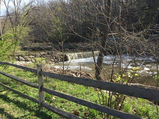 water flow at Peirce Mill in Rock Creek Park